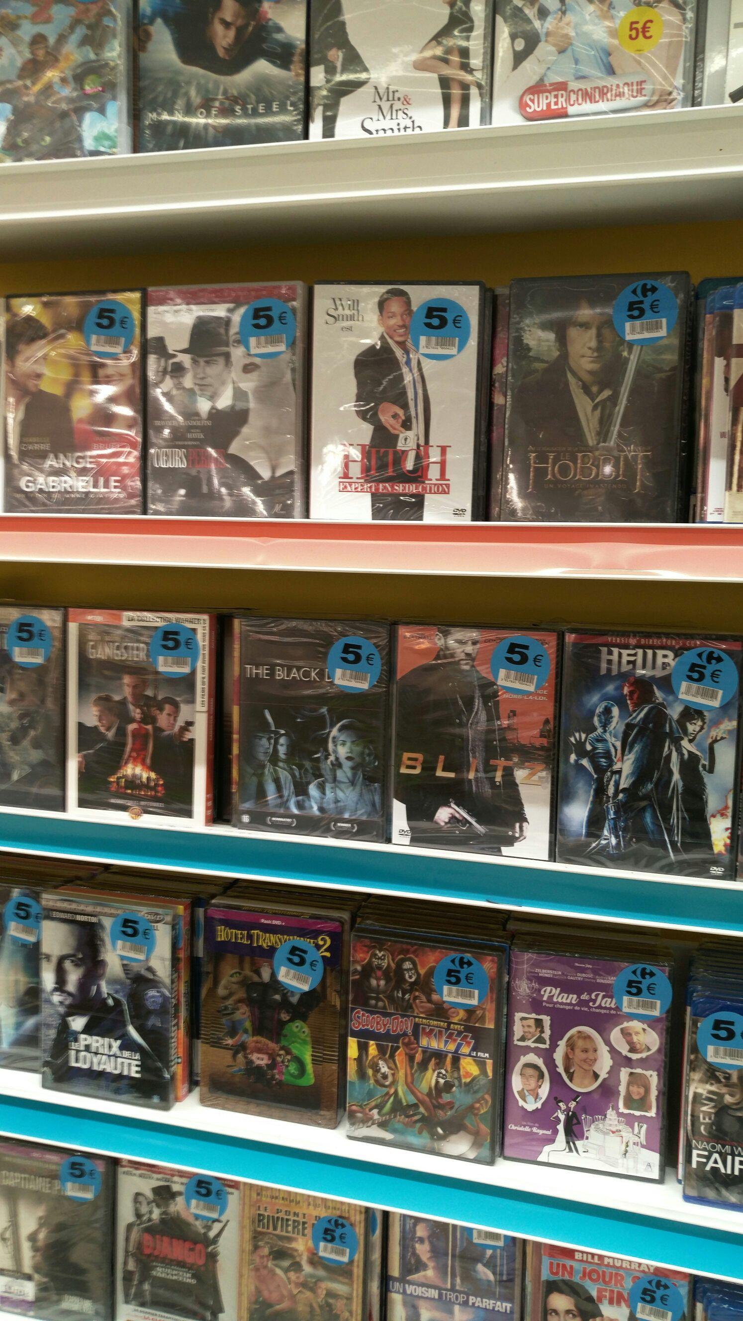 Sélection de DVD et blu-ray à 5€ - Ex : DVD Hitch (Carrefour montreuil 93)