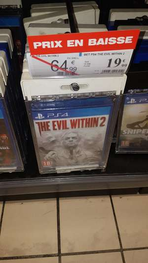 The Evil Within 2 sur PS4 au Auchan Lac Bordeaux (33)