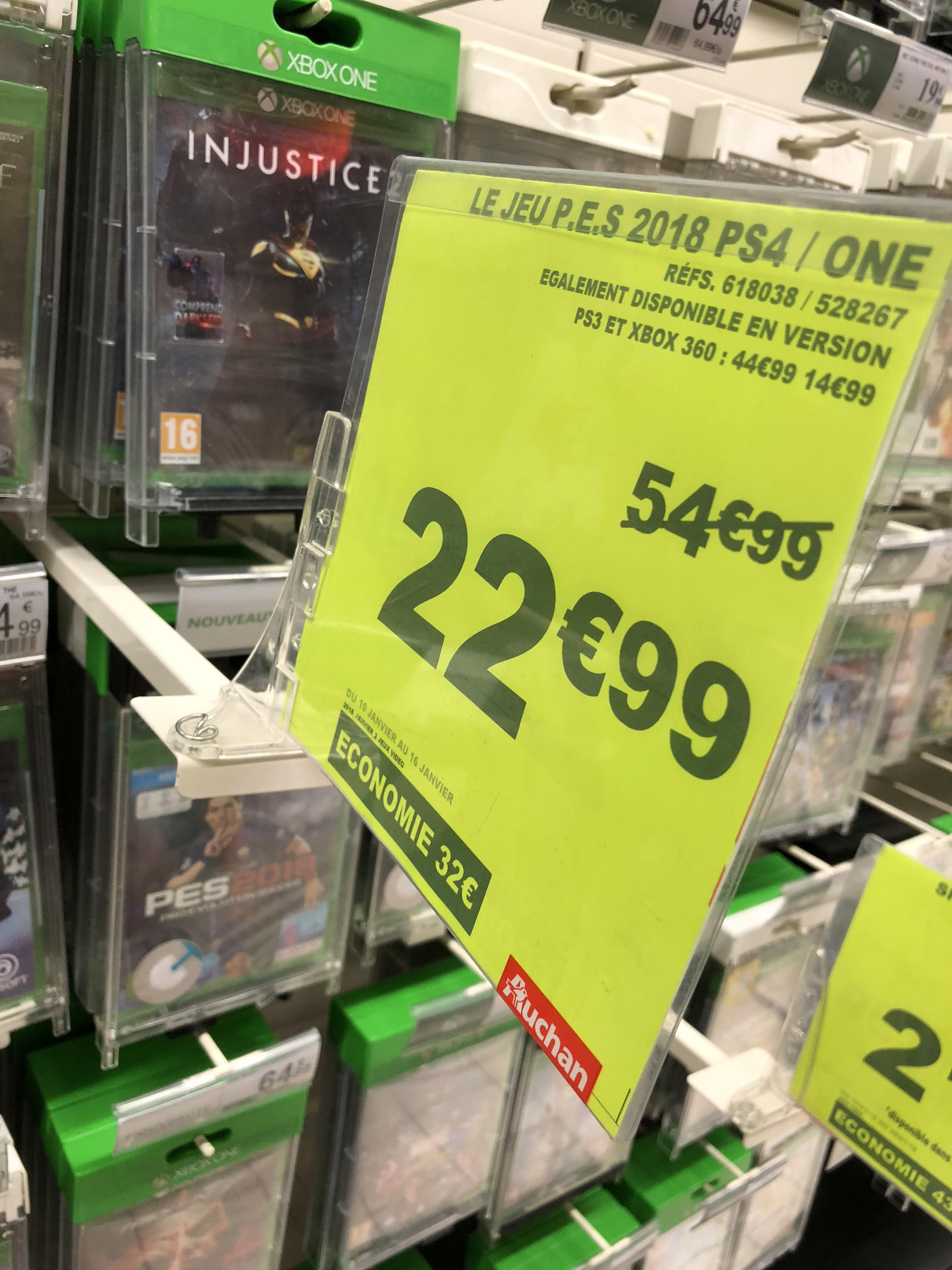 Pro Evolution Soccer (PES) 2018 sur PS4 ou Xbox One au Auchan Nogent-sur-Oise (60)