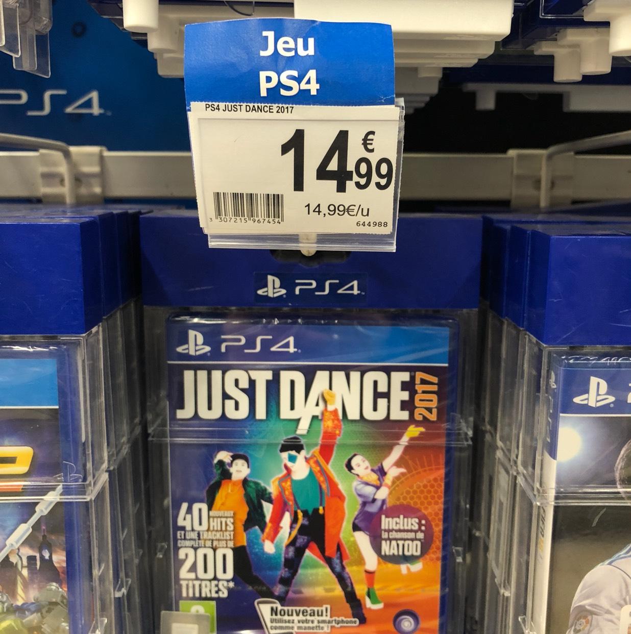 Just Dance 2017 sur PS4 au Auchan Petite Arche Tours (37)