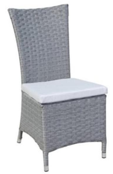 Chaise avec coussin Hesperide Cuba - gris