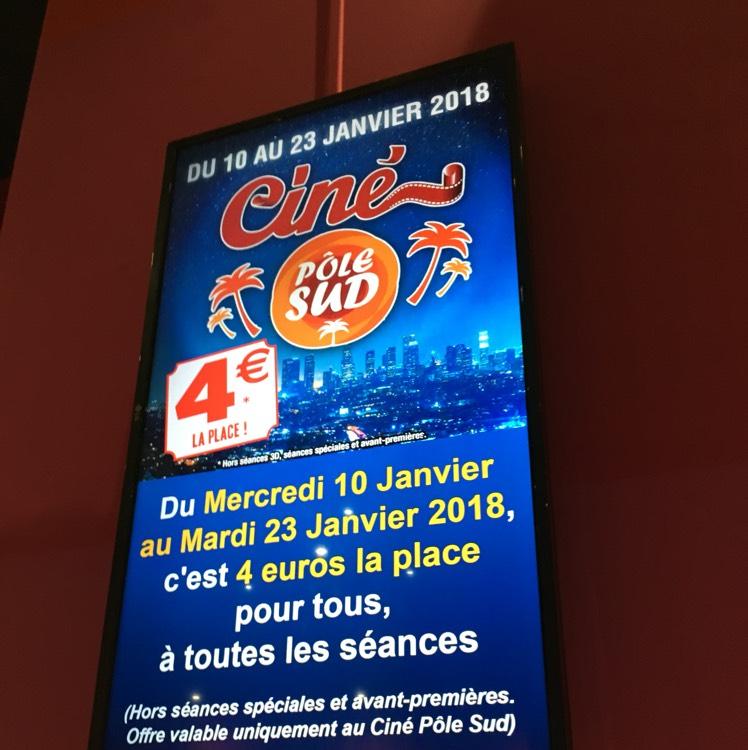 Place de cinéma au Ciné Pôle Sud à Basse-goulaine (44)