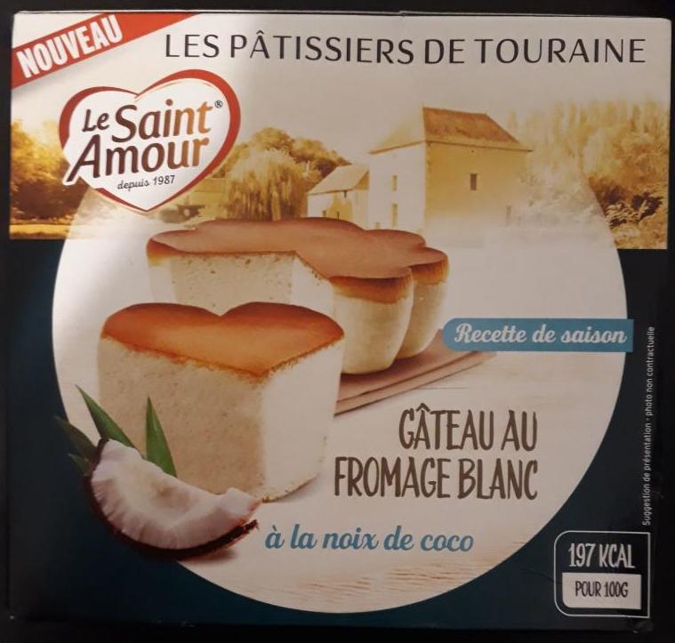 2 Gateaux au fromage blanc noix de coco Saint Amour (via ODR)
