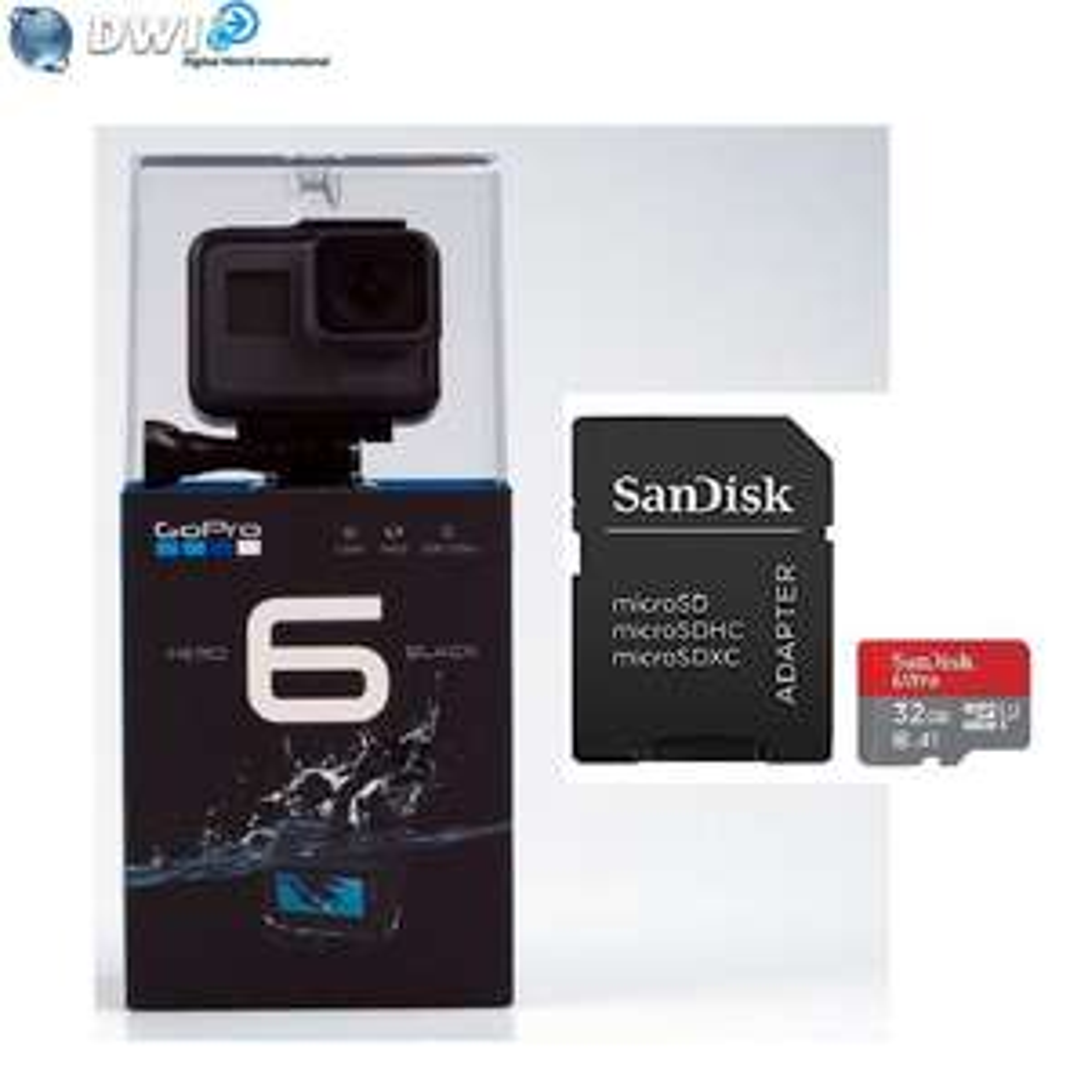 Camera sportive Gopro Hero 6 Black + micro carte sd 32go