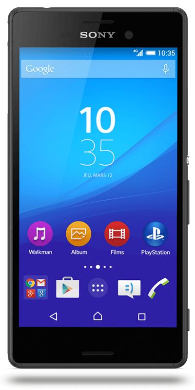 "Smartphone 5"" Sony M4 Aqua Noir - Villacoublay (78)"
