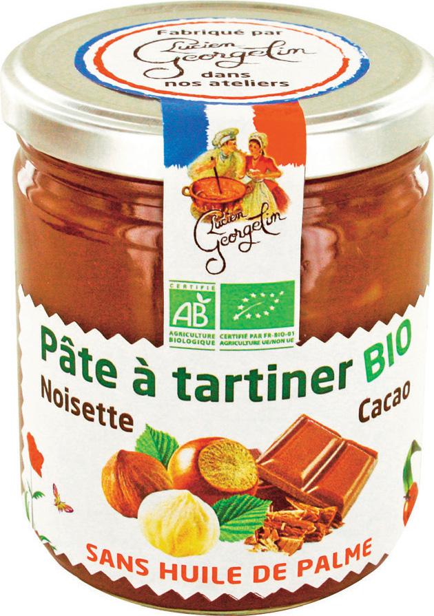 Pot de Pâte à Tartiner Bio  Lucien Georgelin sans Huile de Palme - 400g - Ariège (09) Aude (11) Tarn (81)