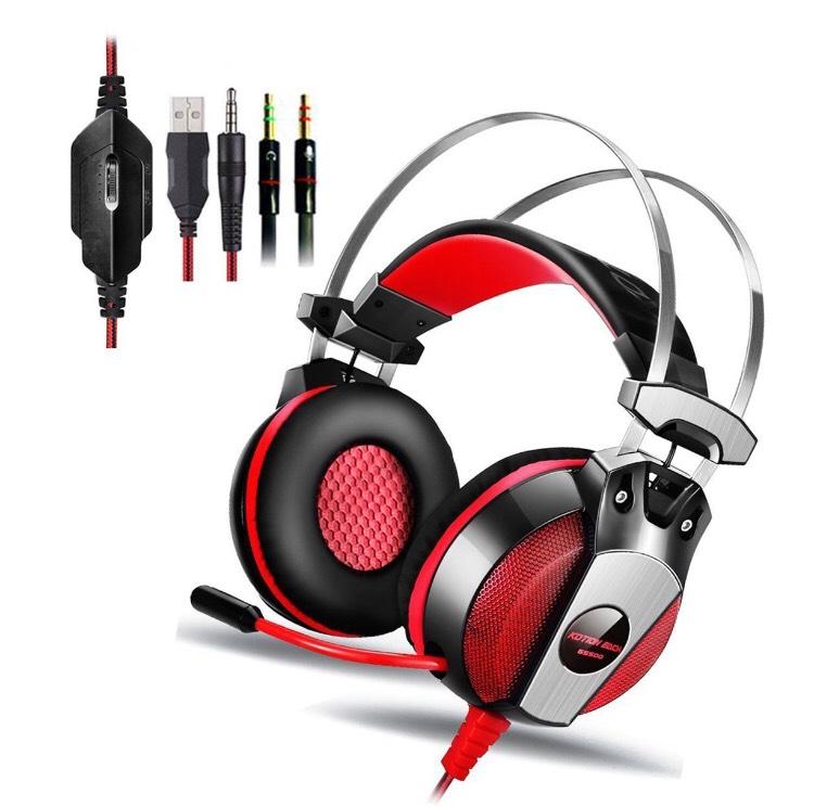 Casque Micro Gaming Filaire Kingtop GS500 - Noir / Rouge (Vendeur Tiers)