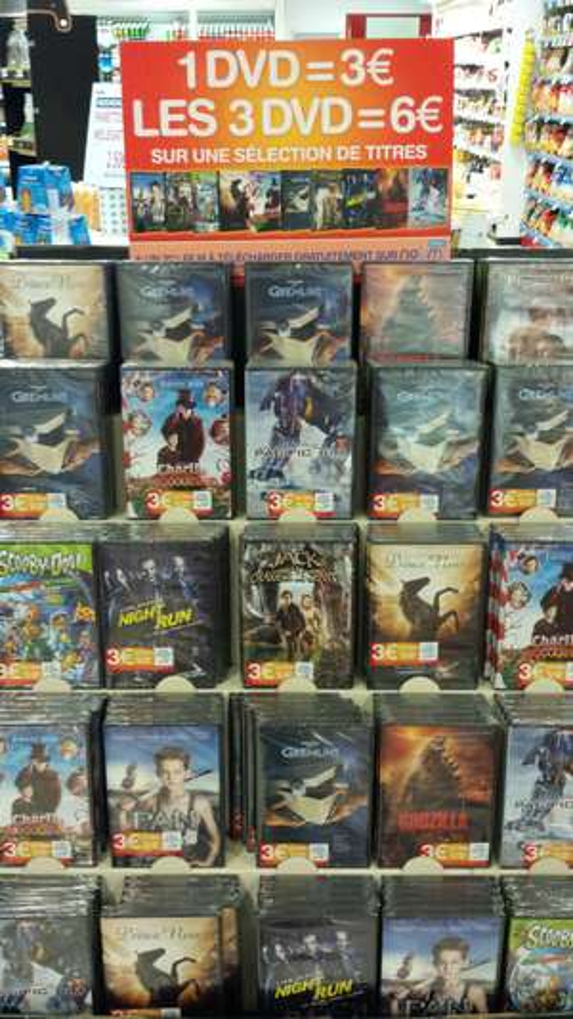 Lot de 3 DVD parmi une sélection + 2ème film à télécharger gratuitement sur Nolim - Brumath (67)