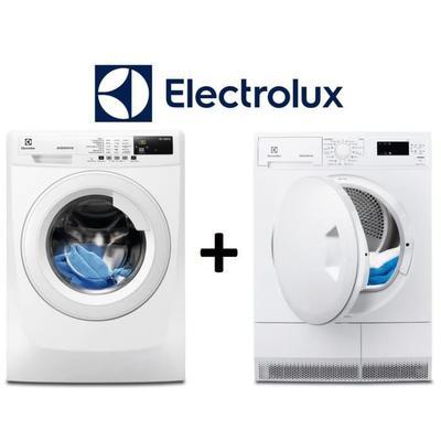 Lave-linge Electrolux EWF1472BS - 7kg (A+++) + Sèche-linge Electrolux EDP2074PZW - 7kg (B)