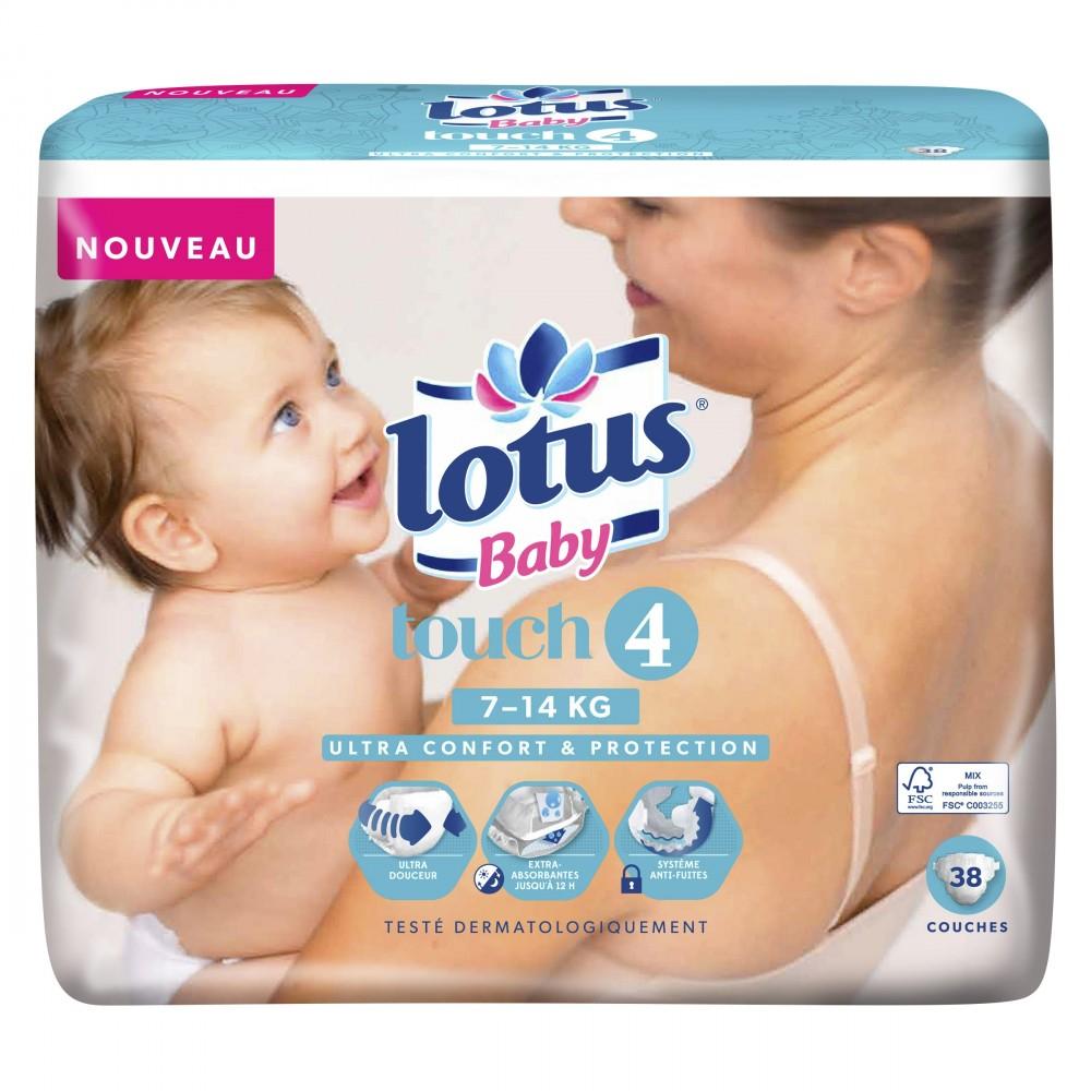 Lot de 2 Paquets de Couches Lotus Baby Touch (Taille 3 à 5)