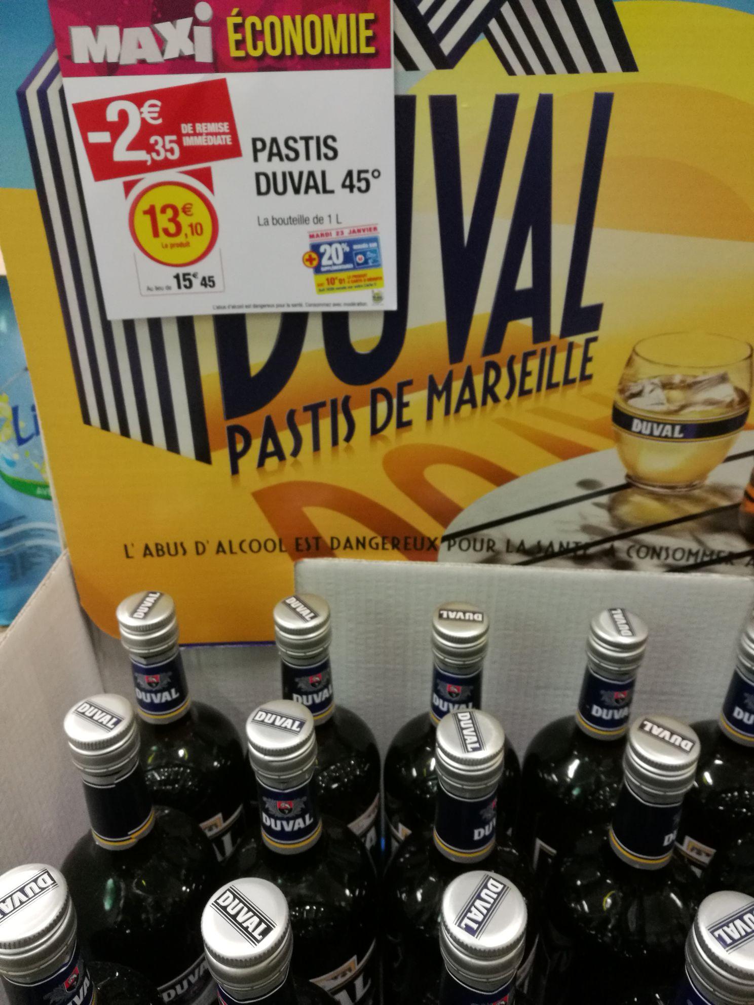 Bouteille de Pastis Duval  (via 2.62€ sur la carte + BDR) - Agde (34)