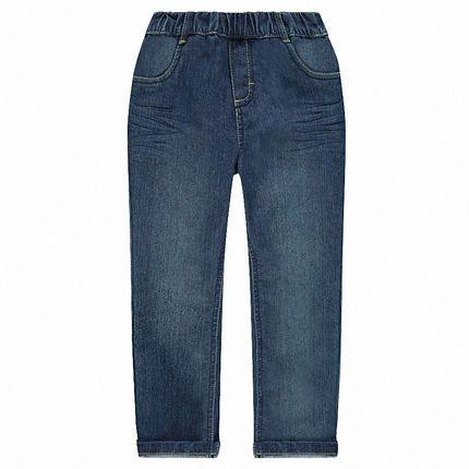 Pantalon enfant effet délavé à taille élastiquée - plusieurs tailles