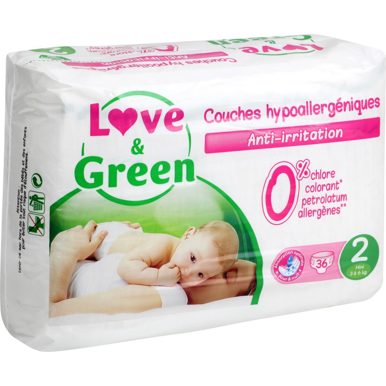 30% de réduction sur une sélection de produits Love and Green - Ex : Couches taille 2 3-6 kg Love & Green