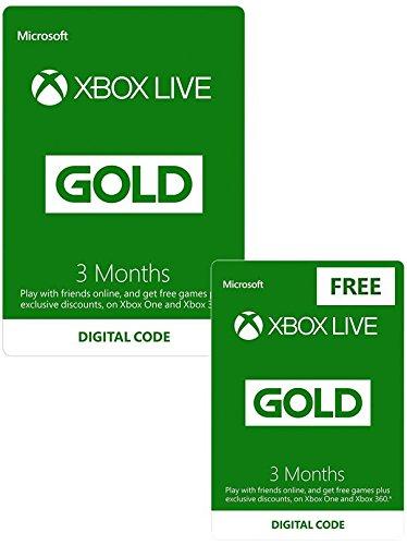 Abonnement Xbox Live Gold - 6 mois (dématérialisé)