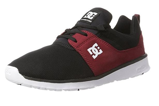 DC Shoes Heathrow, sneakers basses homme - noir/rouge - tailles au choix