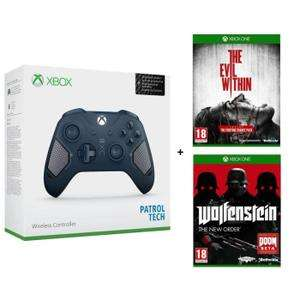 Manette Xbox One Edition Patrol Tech + Wolfenstein The New Order + Evil Within sur Xbox One