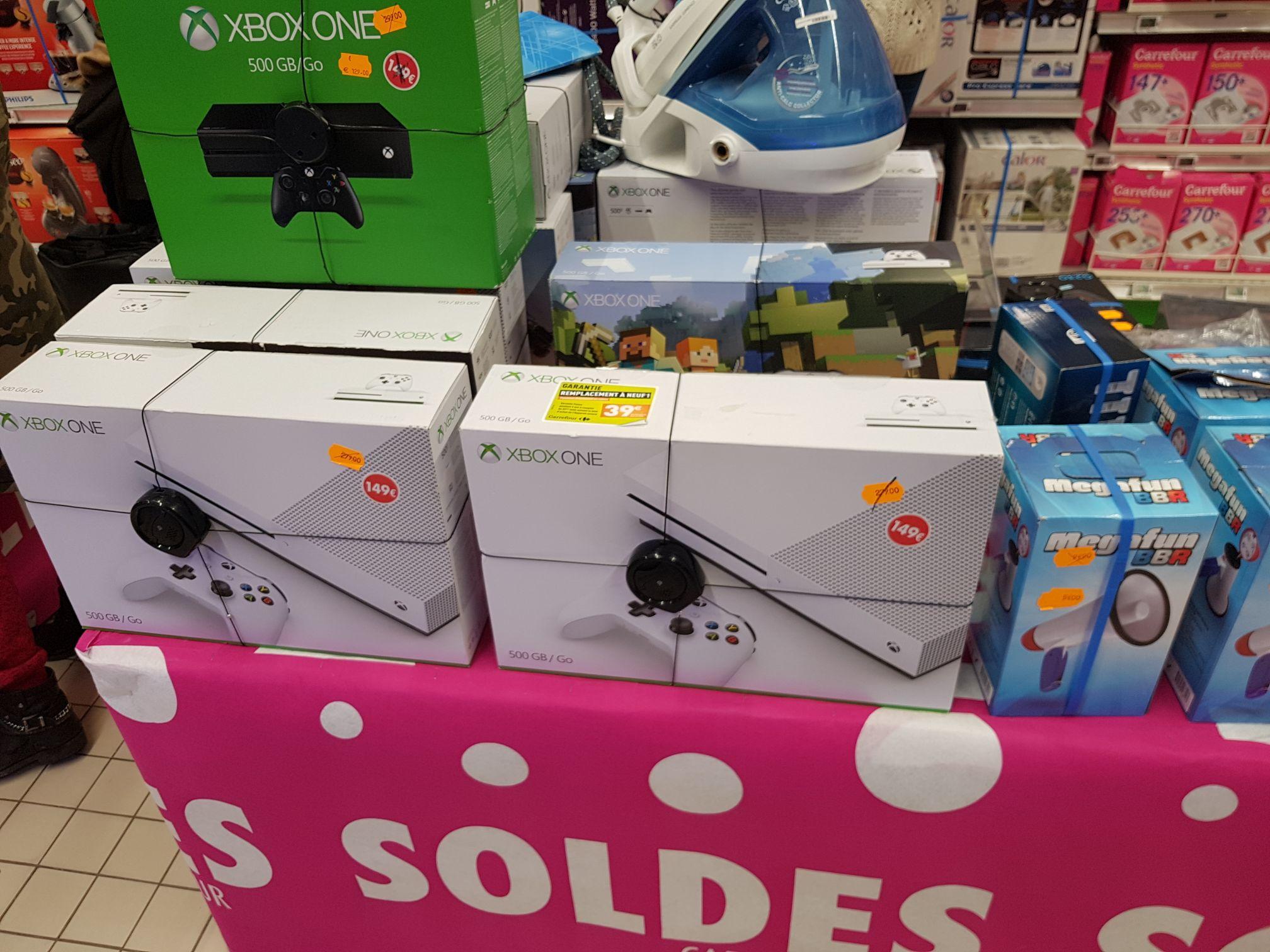 Sélection de consoles Xbox One en promotion - Ex : Microsoft Xbox One S (500 Go, blanc) au Carrefour Montereau-Fault-Yonne (77)