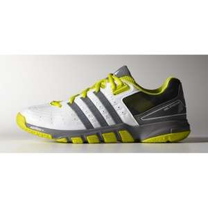Chaussures indoor adidas QuickForce 7 - blanc / jaune (tailles 39 1/3 ou 46 2/3)