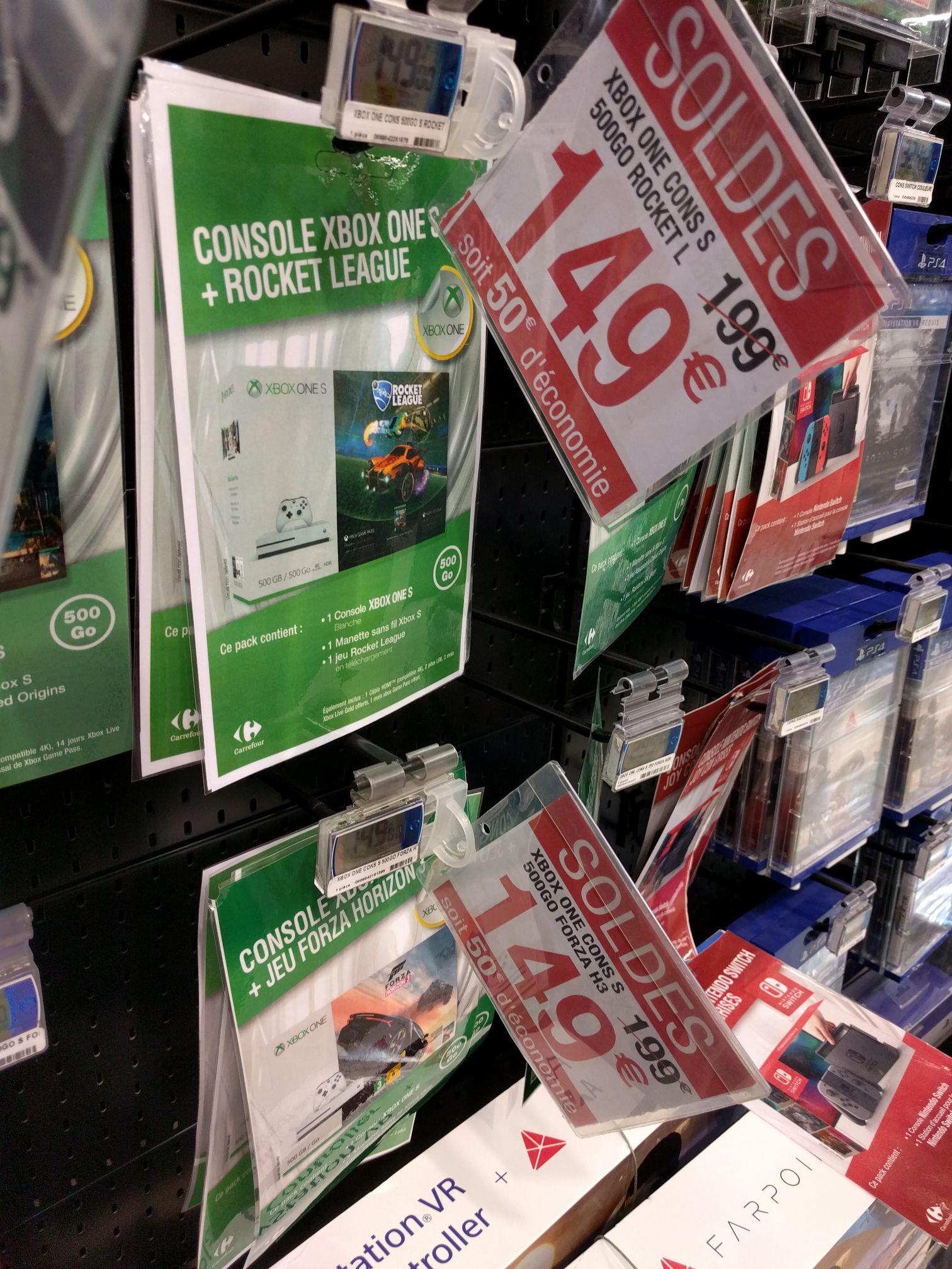 Pack console Microsoft Xbox One S (500 Go) + Forza Horizon 3 ou Rocket League au Carrefour Aix-en-Provence (13)