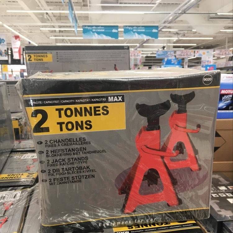 Lot de 2 chandelles fixes à crémaillères - 2 tonnes max. au Auchan Saint-Loup Marseille (13)