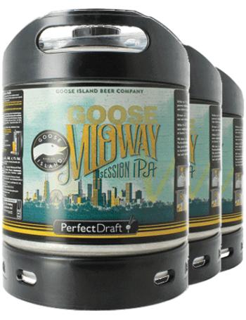 Pack de 3 fûts de bière IPA PerfectDraft Goose Midway Session - 6 L (consignes comprises)
