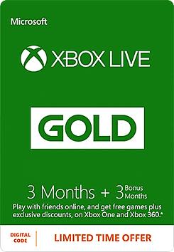 Abonnement Xbox Live 6 mois (Dématérialisé)