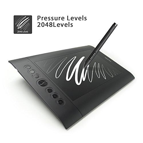 Tablette graphique Huion 10 x 6,25 pouces avec 8 touches Express H610 Pro + Accessoires