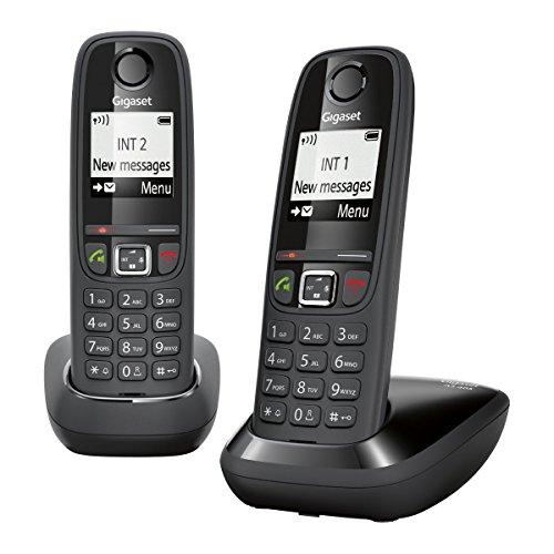 Gigaset AS405 Duo Téléphone sans Fil DECT/GAP - Noir