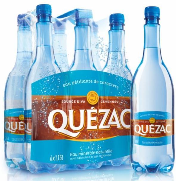 Lot de 2 packs de 6 bouteilles de Quézac (via bon de réduction)