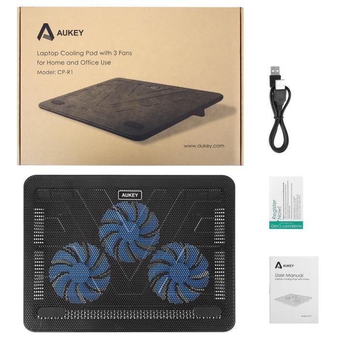 """AUKEY - Refroidisseur PC Portable de 12 à 17"""" (vendeur tiers)"""