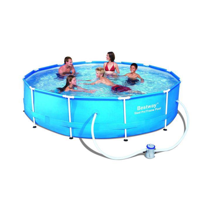 Kit piscine tubulaire ronde 366 x 76 cm