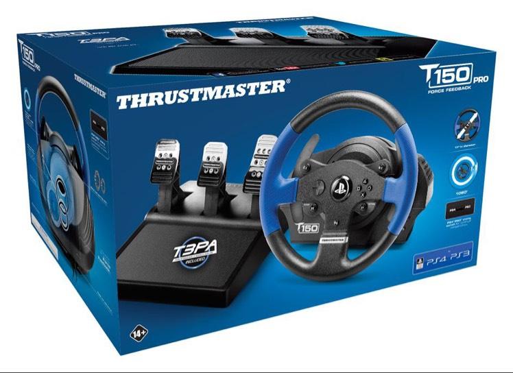 Volant + Pédalier Thrustmaster T150 Pro Force Feedback (version avec T3PA) pour PS3-PS4