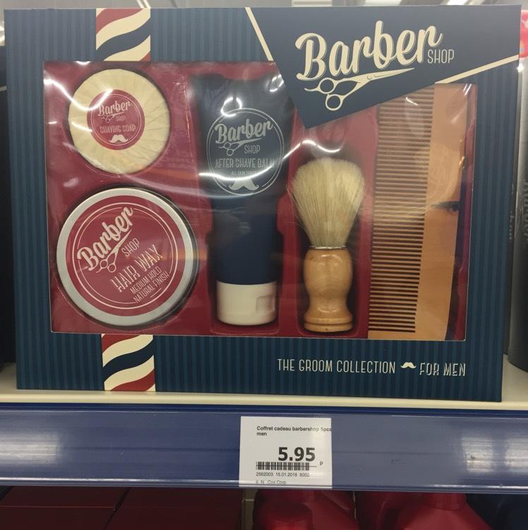 Set barber (Peigne blaireau, shampoing ...)