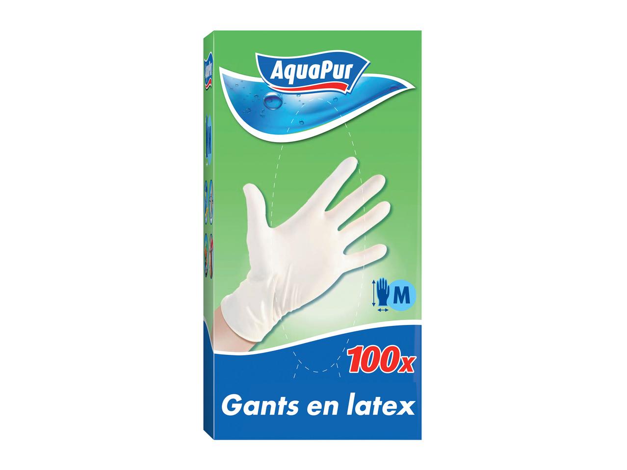 Pack de 100 gants en latex