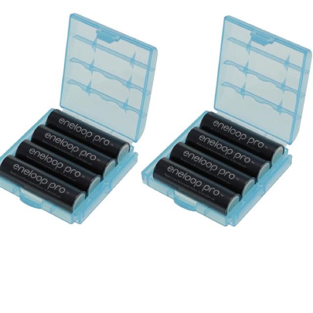 Eneloop XX HR-3UWXB Lot de 8 piles mignon type AA 2550 mAh + 2 boîtiers Heiba (vendeur tiers)
