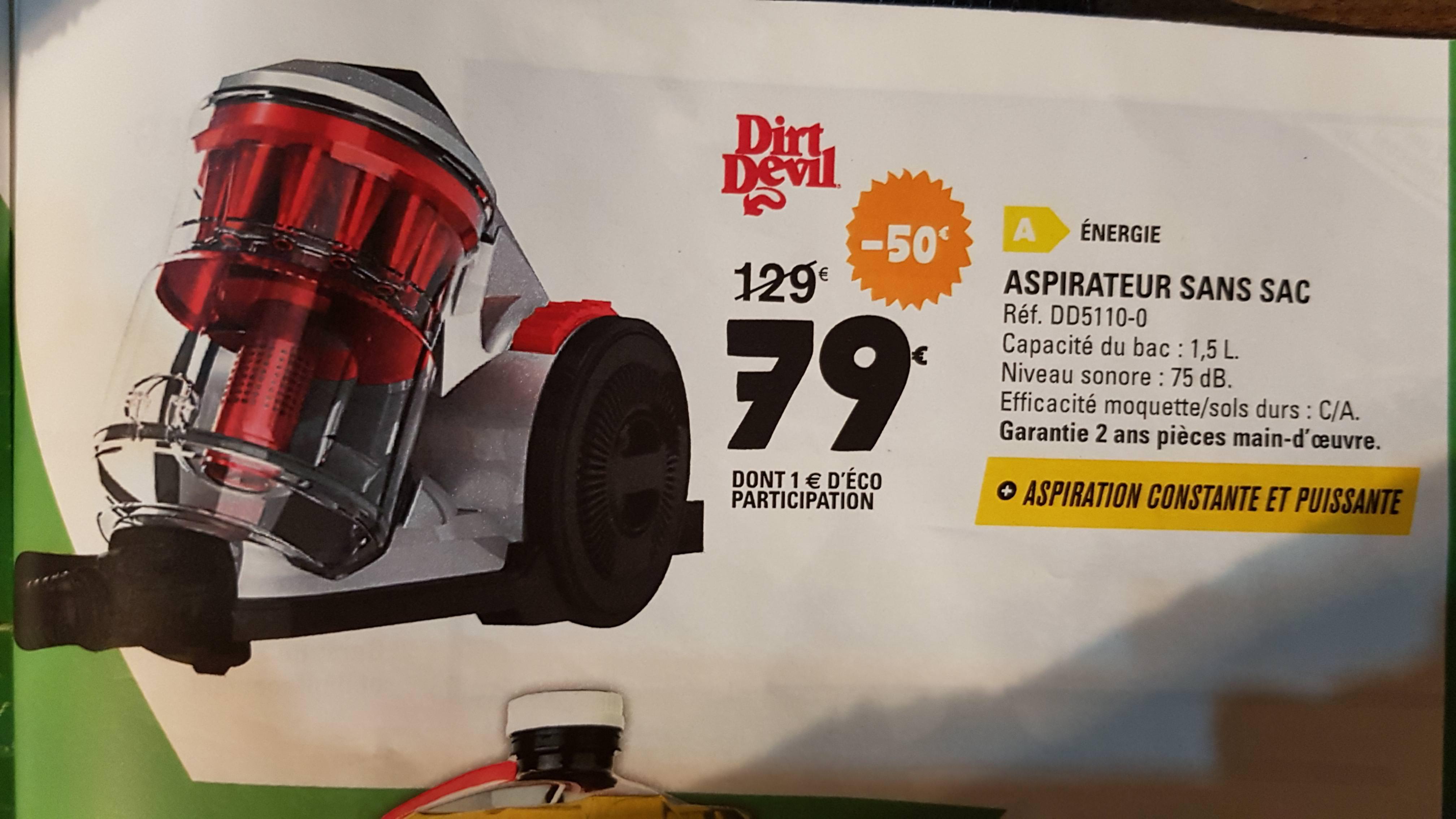 Aspirateur traîneau sans-sac Dirt Devil Dirt Devil DD5110-0