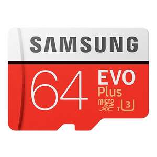 Carte MicroSDXC Samsung EVO Plus U3 Classe 10 (Jusqu'à 100Mo/s) - 64 Go