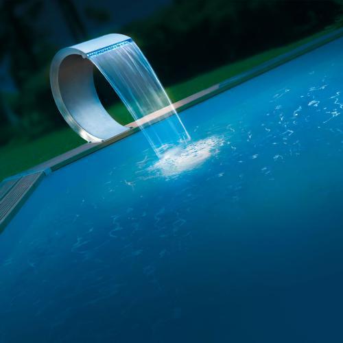 Cascade Ubbink pour piscine avec LED Mamba