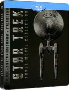 Coffret Blu-ray Edition Steelbook - Star Trek + Star Trek Darkness (3D) + Star Trek : Sans limites (3D)