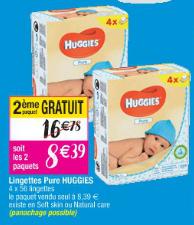 8 paquets de lingettes pure Huggies