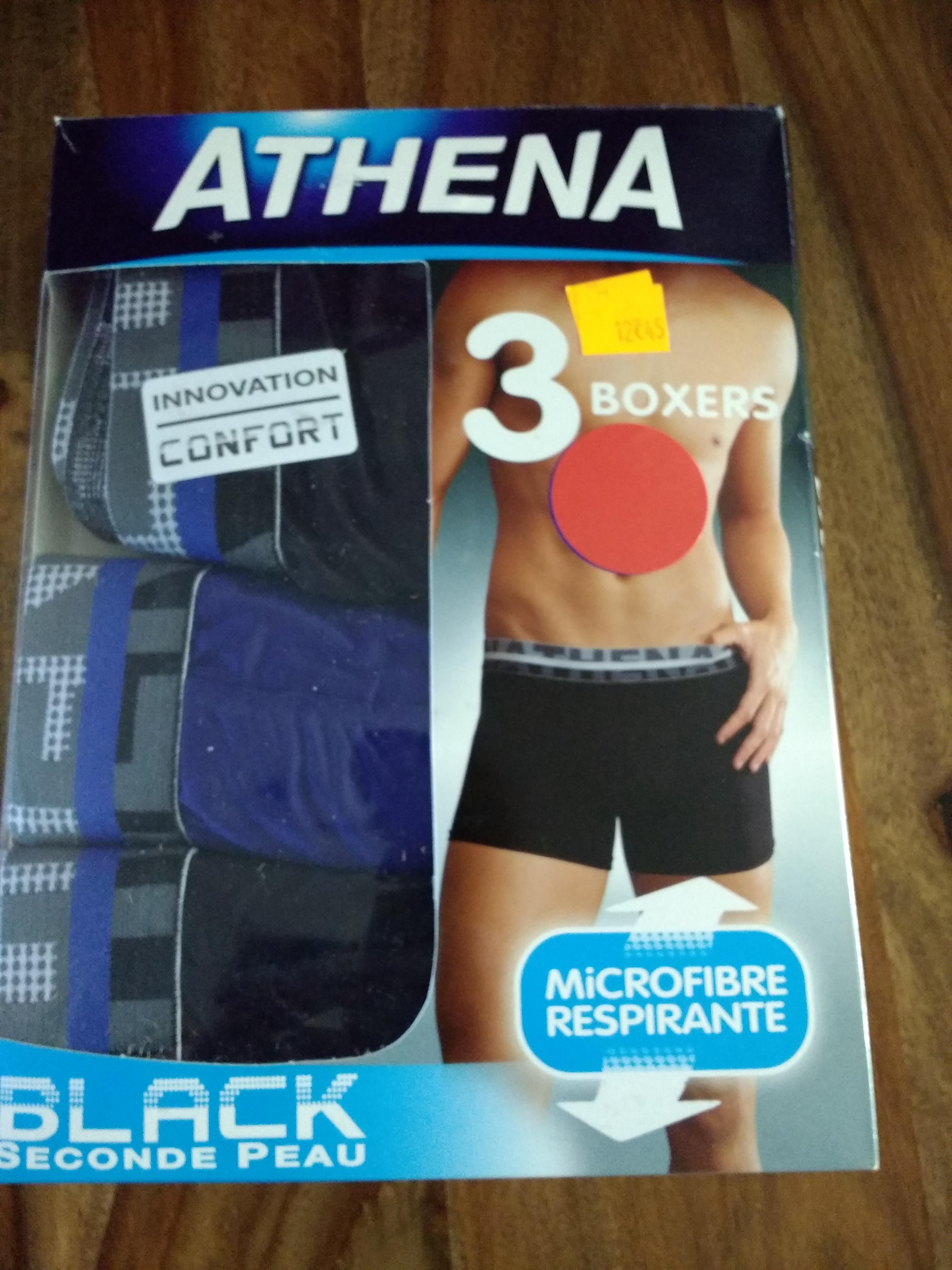 Lot de 3 Boxers microfibre Athena - Issoire (63)