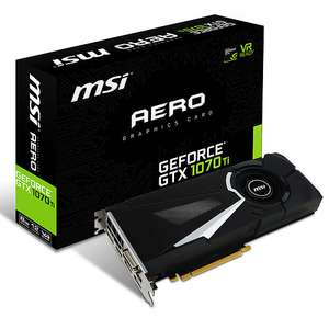 Carte graphique MSI GeForce GTX 1070 Ti Aero - 8 Go