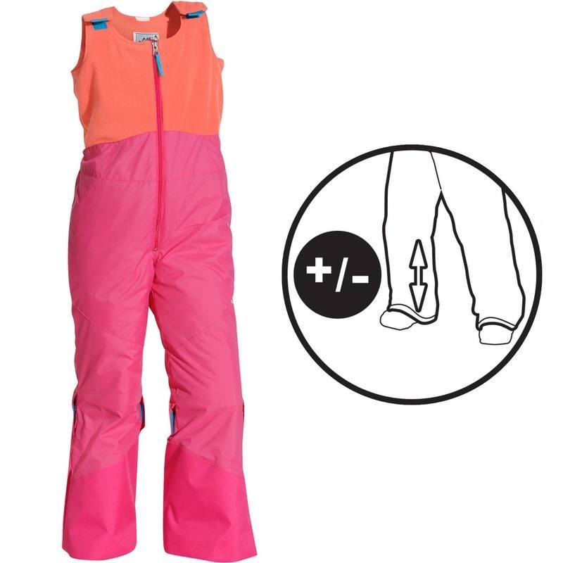 Pantalon Ski Enfant 300 Pull'Nfit Rose Abricot Wed'ze