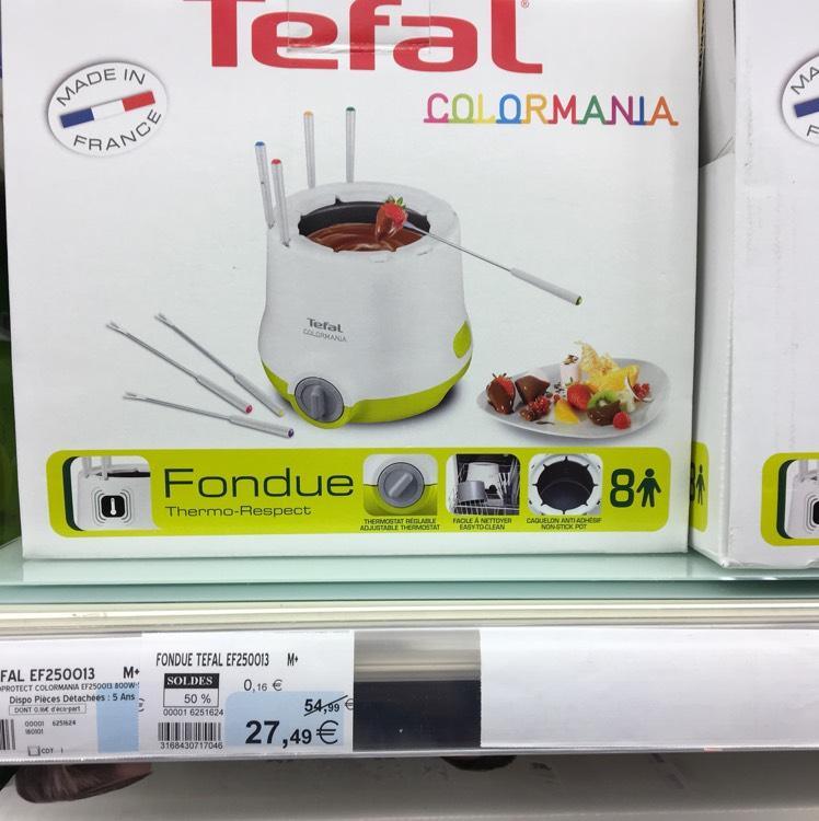 Service à fondue électrique Tefal Fondue Thermo-Respect Colormania au Super U Derval (44)