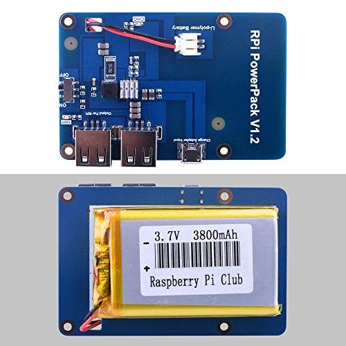 Carte d'extension batterie pour mini-PC Raspberry Pi 3 Quimat - avec câble USB (vendeur tiers)
