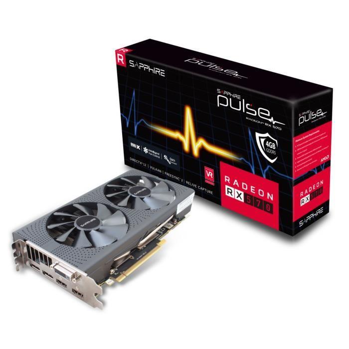 Carte graphique  Sapphire  Pulse Radeon RX 570 4GD5 - 4 Go - GDDR5