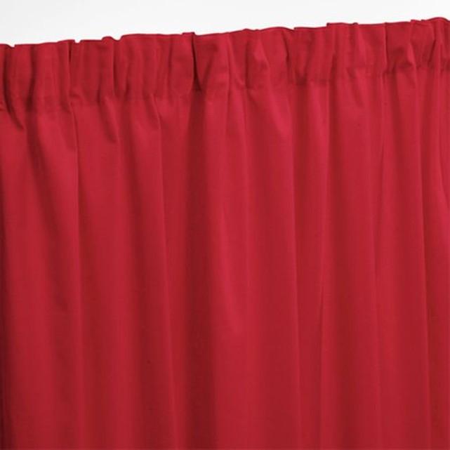 Rideau pur coton galon fronceur - Rouge