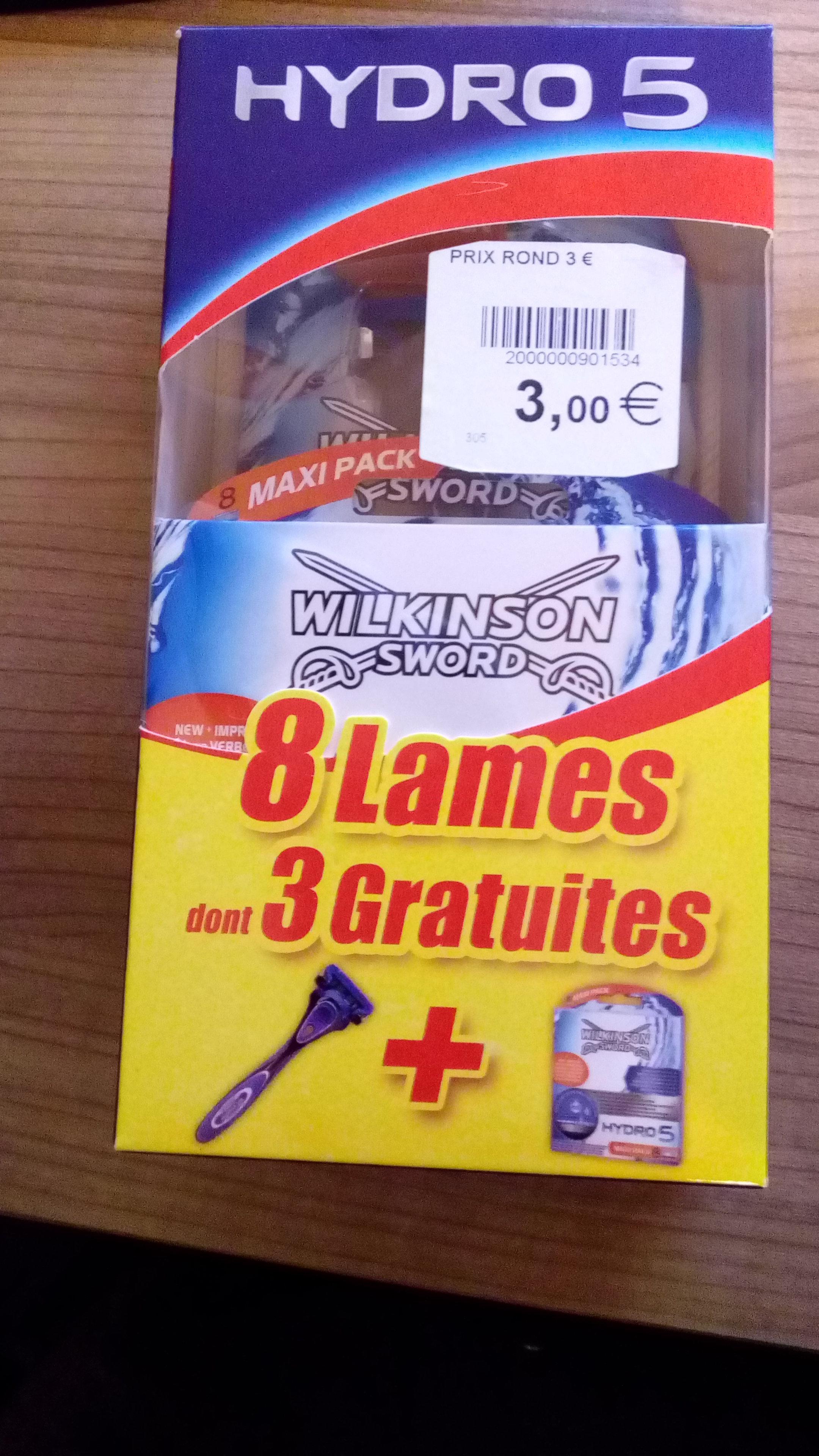Lames pour rasoir Wilkinson Hydro 5 Maxi Pack - Blain (44)