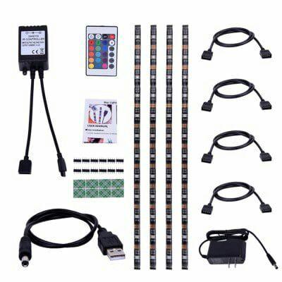 Lot de 4 bandes LED RGB pour TV True-Shine DC - 50 cm, 5 V