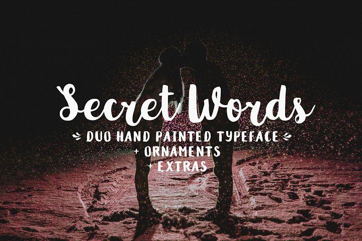 Police d'écriture Secret Words gratuite sur PC